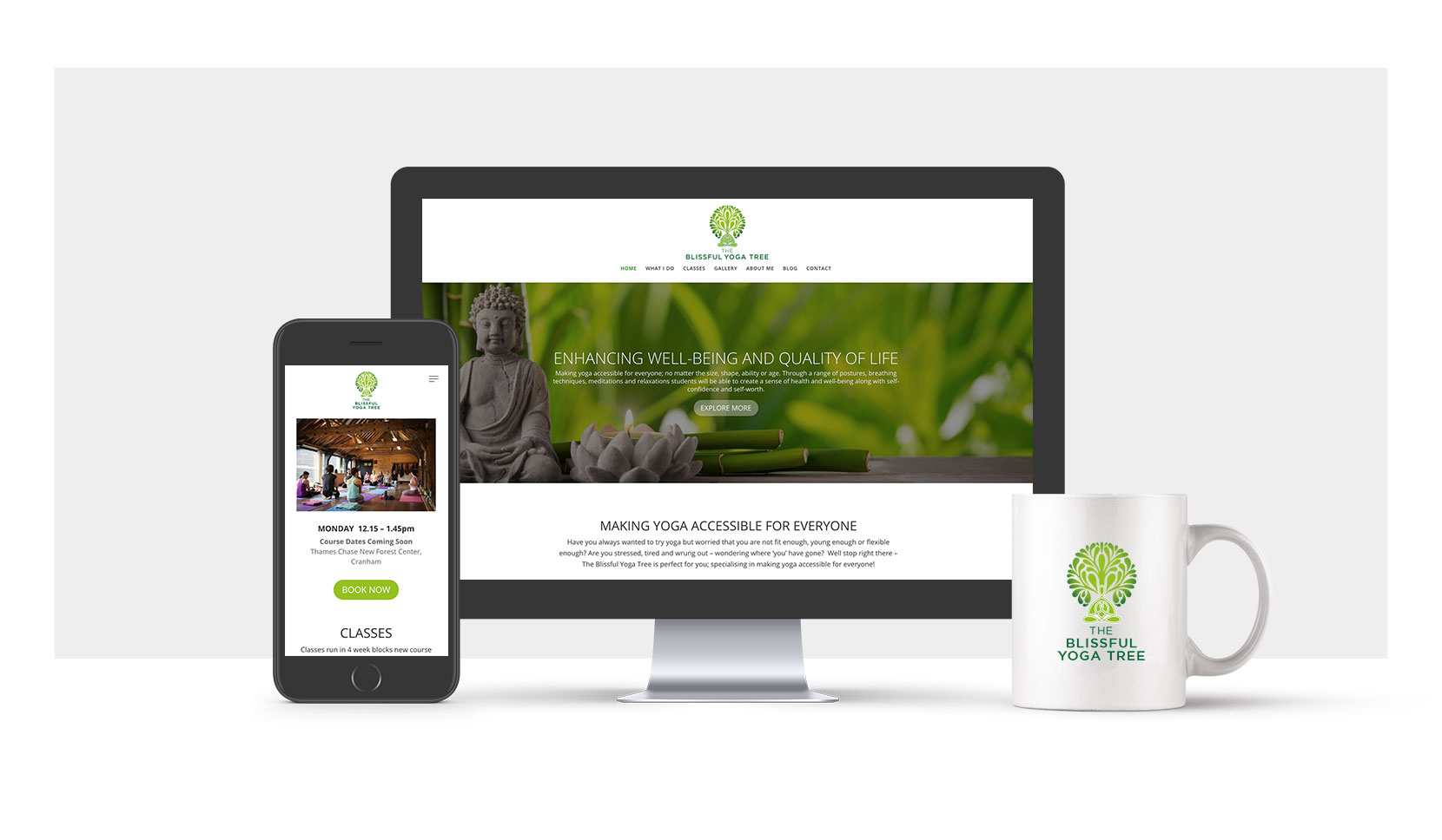 The Blissful Yoga Tree Responsive Website Design
